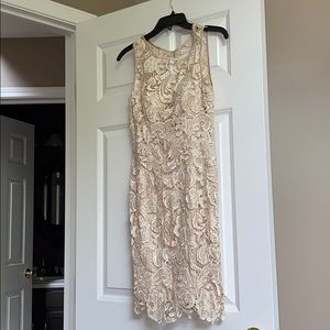 Lace ivory dress by cache. Size 2 new with tag